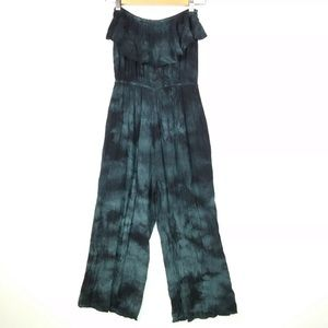 Anama Green Black Sleeveless Jumpsuit with pockets